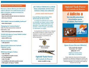 Opioid Task Force of Monroe County Spanish Brochure April 2018
