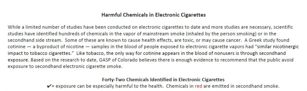 Harmful Chemicals in Electronic Cigarettes