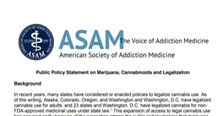 ASAM Public Policy Statement On Marijuana, Cannabinoids And Legalization