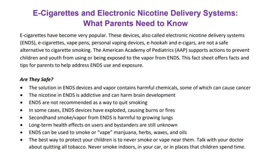 ENDS What Parents Need To Know
