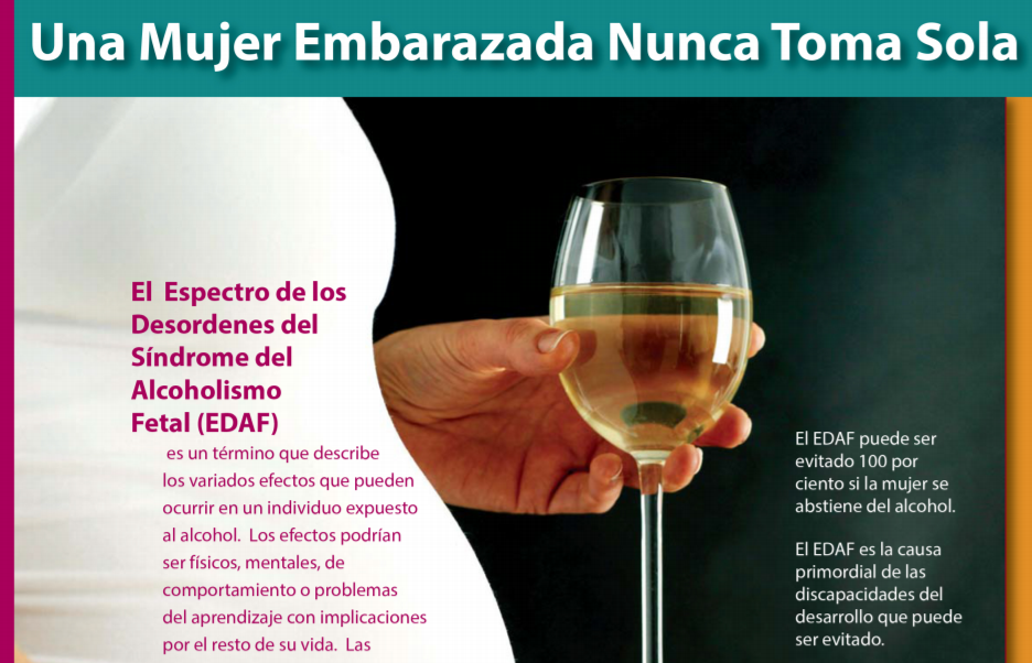 Fetal Alcohol Spectrum Disorder FASD Spanish