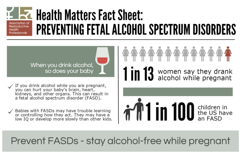 Health Matters Fact Sheet Preventing FASD