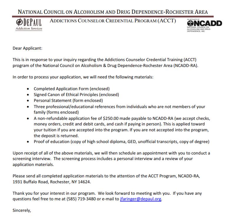 NCADD RA Application Website