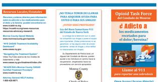 Opioid Task Force Of Monroe County Brochure Spanish