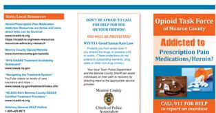 Opioid Task Force Of Monroe County Brochure
