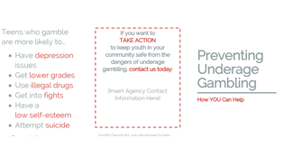 Underage Gambling Brochure